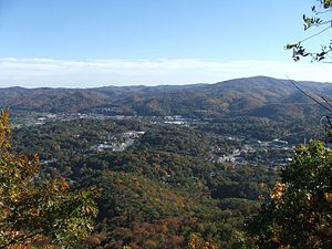 English: , seen from Howard's Knob.