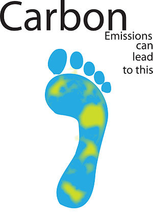 English: The carbon footprint.
