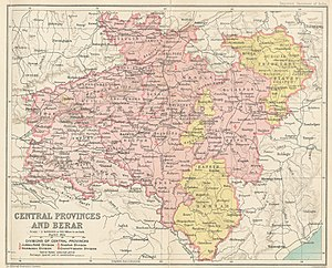 map of the Central provinces of british-India