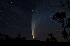 Comet McNaught as seen from Swift's Creek, Victoria on January 23, 2007