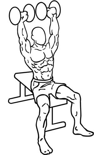 an exercise of shoulders