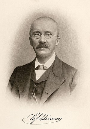 Treasure hunter Heinrich Schliemann.