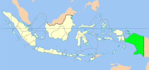 Location of Province of Papua in Indonesia
