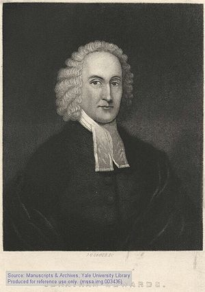 """Jonathan Edwards,"" lithograph of th..."