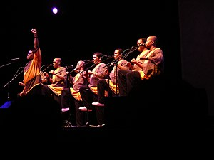 English: Ladysmith Black Mambazo in concert at...
