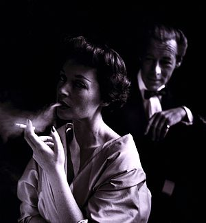 German actress Lilli Palmer (1914-1986), with ...