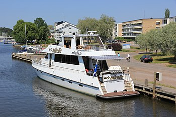 English: Charter yacht Mirelle in Porvoo. Suom...
