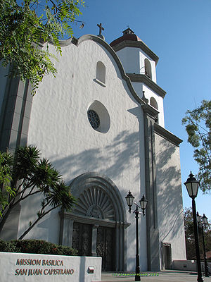 Front view of the Mission Basilica, in the Cit...