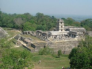 The Mayan ruins of Palenque, Mexico.