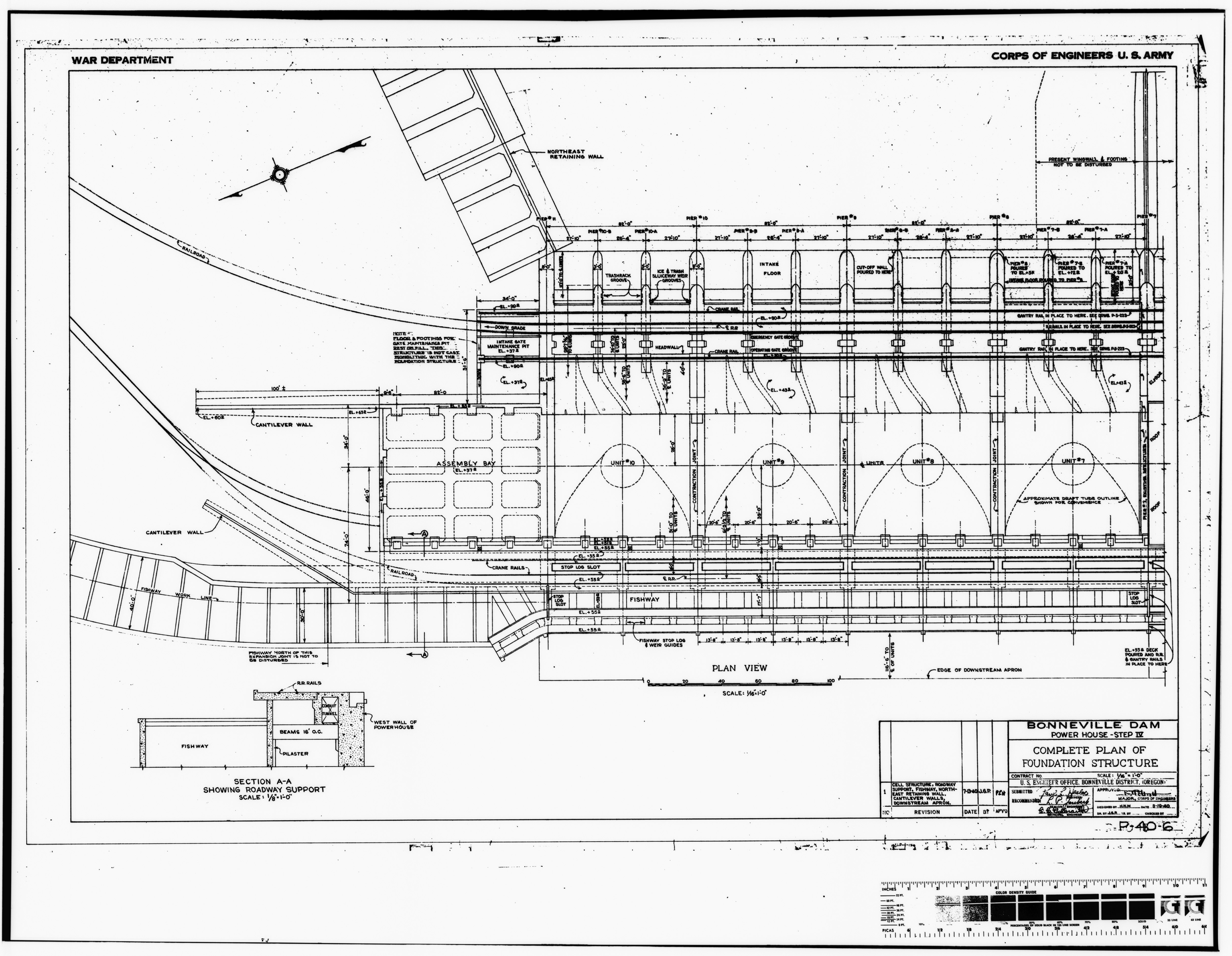File Photocopy Of Original Construction Drawing Dated 19 March Original Print In The