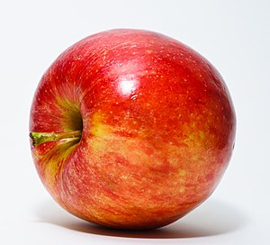 Red Apple. Used white paper behind apple and a...