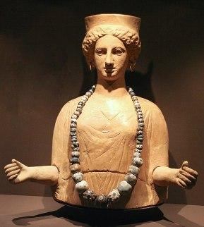 Representació guarnida de la deessa Tànit