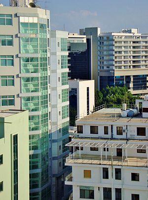 English: Skylines of Nicosia Cyprus