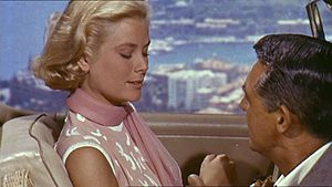English: Screenshot of Grace Kelly and Cary Gr...