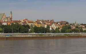 View to the Old Town from the Vistula