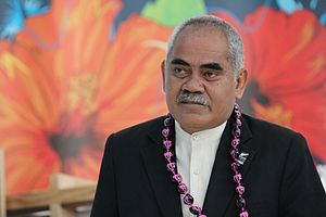 English: The Prime Minister of Tuvalu, Willy T...