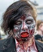 Zombie costume portrait