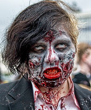 A participant of a Zombie walk, Asbury Park NJ...