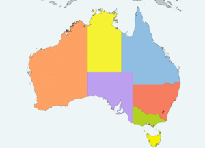 Map of the Australian states / Mapa dels estat...