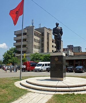 English: Monument of Ahmet Zogu in Burrel, Albania
