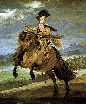 Diego Velázquez - Prince Baltasar Carlos on Ho...