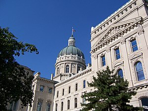 English: Picture of the Indiana State House; I...