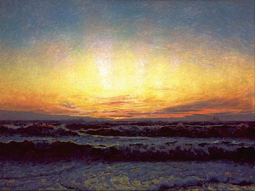 Laurits Tuxen - The North Sea in stormy weather. After sunset. Højen - Google Art Project