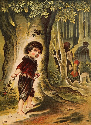 Hansel and Gretel, illustration by Carl Offter...