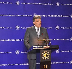 English: Turkish President Abdullah Gul Gives ...