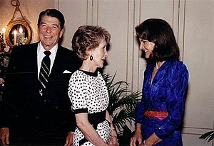 Former First Lady Jacqueline Kennedy Onassis i...