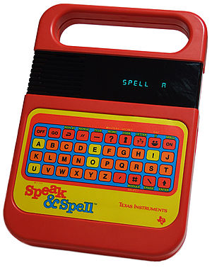 Photo of Texas Instruments Speak & Spell toy, ...