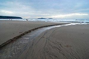 The beach on Christmas Day, Aberdaron Taken at...