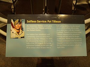 Misleading tribute to Pat Tillman at the Natio...