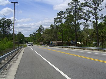 US Highway 98 looking westward from the George...