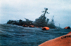 English: The Argentine cruiser ARA General Bel...