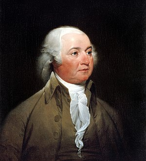 Oil painting of John Adams by John Trumbull.