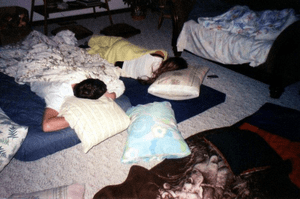 Children at a sleepover