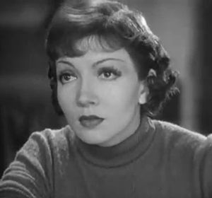 Cropped screenshot of Claudette Colbert from t...