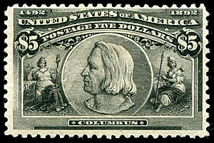 English: Columbus_1892_Issue-$5.jpg Christophe...