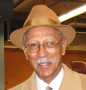 English: this is a pic of me with Dave Bing we...