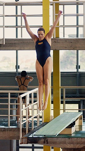 Competitive springboard diving