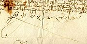 Chữ ký của Ferdinand II & V