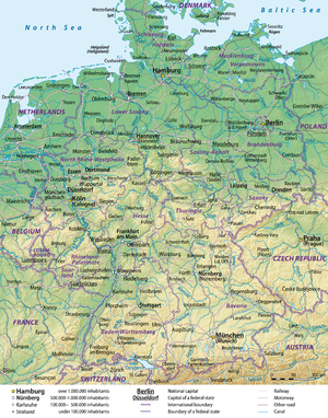 General map of Germany, English version