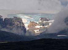 Der Gletscher Hardangerjøkulen