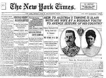 English: Headline of the New York Times June-2...