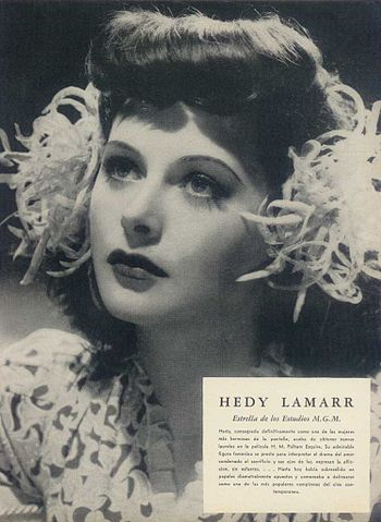 Publicity photo of Hedy Lamarr for Argentinean...