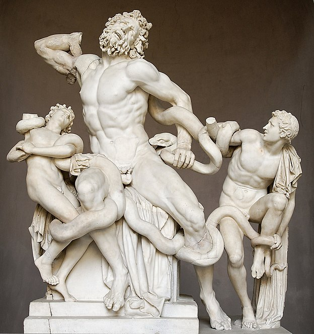 Statue of Laocoon and his sons in the Vatican museum