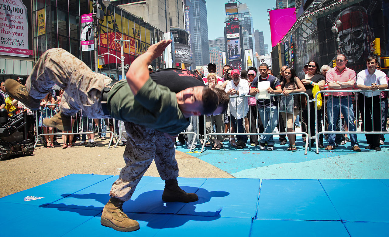 FileMartial Art Demo 02 during Marine Day Times Square May 27  Fleet Week New York 2011jpg