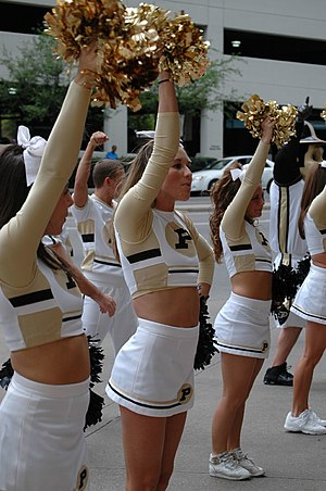 Purdue Cheerleaders at Dallas Pep Rally