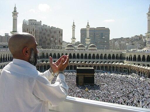Supplicating Pilgrim at Masjid Al Haram. Mecca, Saudi Arabia